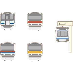 フリーイラスト, ベクター画像, AI, 乗り物, 列車(鉄道車両), 電車, 日本の鉄道車両, モノレール