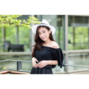 フリー写真, 人物, 女性, アジア人女性, 楚珊(00053), 中国人, カウボーイハット, 帽子