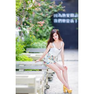 フリー写真, 人物, 女性, アジア人女性, 中国人, ミニスカート