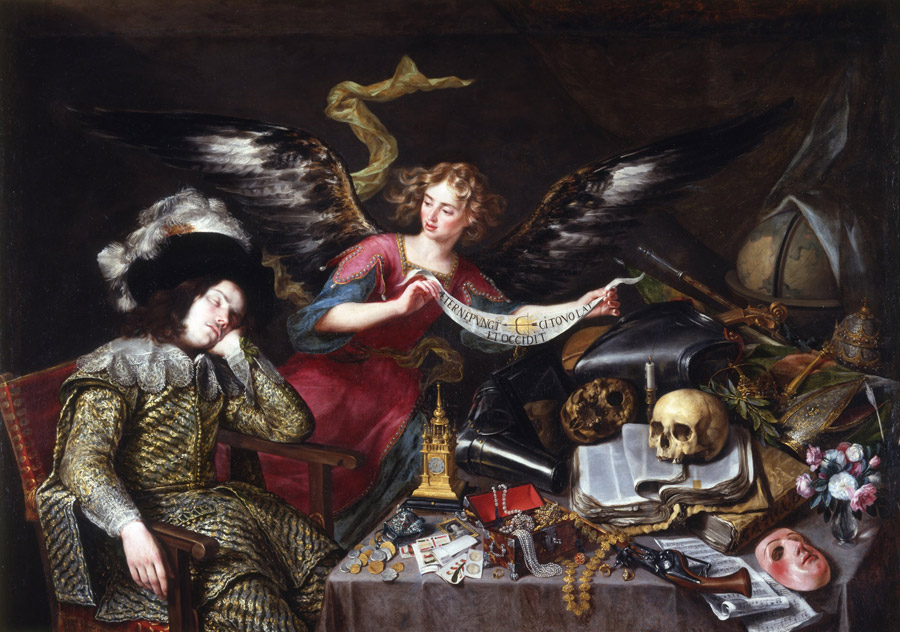 フリー絵画 アントニオ・デ・ペレーダ作「貴紳の夢」