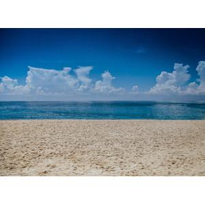 フリー写真, 風景, 自然, 海, ビーチ(砂浜), 雲, 積乱雲(入道雲), メキシコの風景