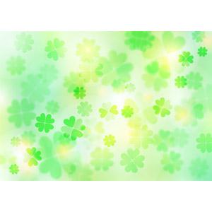 フリーイラスト, ベクター画像, AI, 背景, 植物, クローバー(シロツメクサ), 四つ葉のクローバー, 緑色(グリーン)