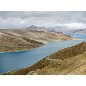 フリー写真, 風景, 湖, 中国の風景, チベット, 山