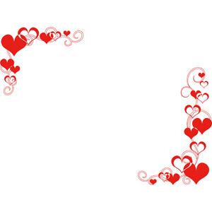 フリーイラスト, ベクター画像, AI, 背景, フレーム, 対角フレーム, ハート, 2月, バレンタインデー, 愛(ラブ)