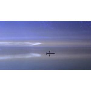 フリー写真, 風景, 湖, 霧(霞), 人と風景, 人と乗り物, 船, ボート, 魚釣り(フィッシング)