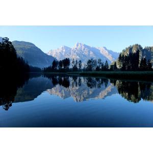 フリー写真, 風景, 自然, 湖, 山, 鏡像, オーストリアの風景