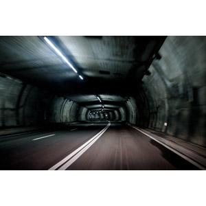 フリー写真, 風景, 建造物, トンネル, 道路