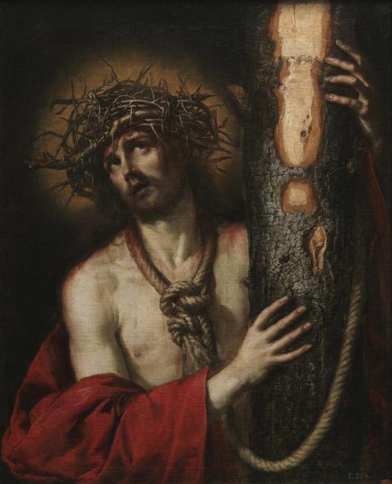 フリー絵画 アントニオ・デ・ペレーダ作「悲しみの人キリスト」