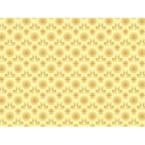 フリーイラスト, ベクター画像, AI, 背景, 更紗模様, 金色(ゴールド)