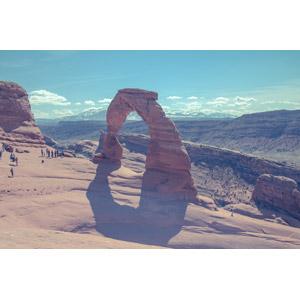 フリー写真, 風景, 自然, 岩, 岩山, アーチーズ国立公園, 天然橋, デリケート・アーチ, アメリカの風景, ユタ州