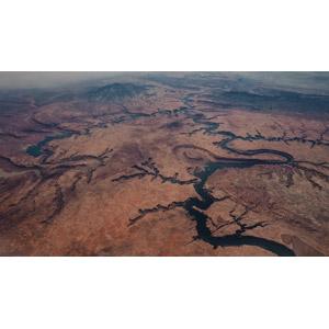 フリー写真, 風景, 自然, 渓谷, 河川, 航空写真, アメリカの地形