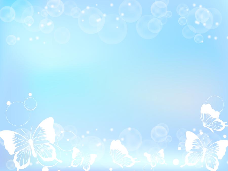 フリーイラスト 蝶と光の玉ボケの飾り枠
