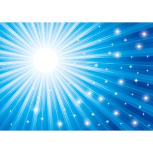 フリーイラスト, ベクター画像, AI, 背景, 抽象イメージ, 光(ライト), 放射線状, 閃光, 輝き, 星(スター), 青色(ブルー)