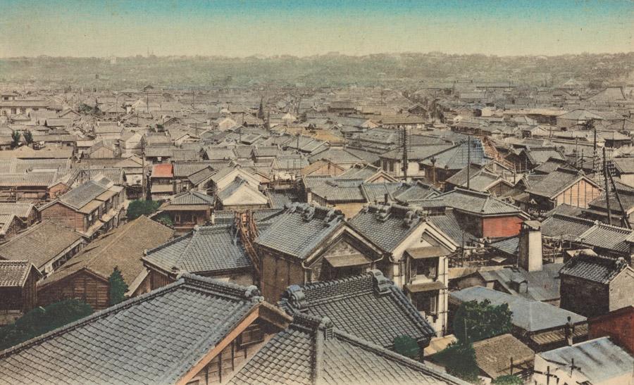 フリー写真 1907年の横浜の街並み