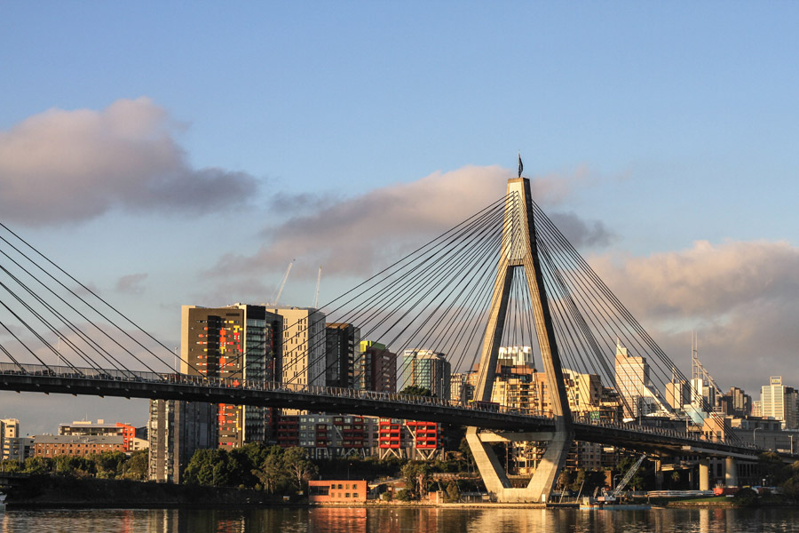 フリー写真 シドニーのアンザック橋の風景