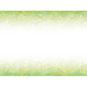 フリーイラスト, ベクター画像, AI, 背景, フレーム, 上下フレーム, 植物, 葉っぱ, もみじ(カエデ), 青もみじ, 新緑