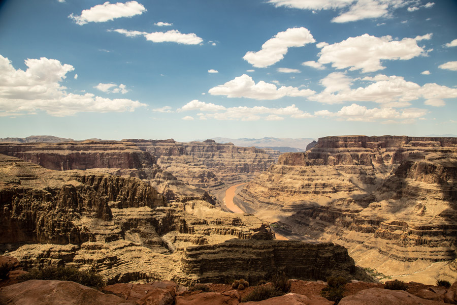 フリー写真 コロラド川とグランド・キャニオンの渓谷の風景
