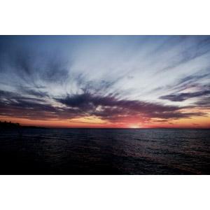 フリー写真, 風景, 自然, 夕焼け, 日暮れ, 海, オーストラリアの風景