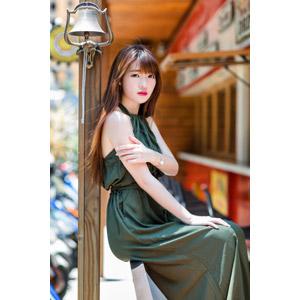 フリー写真, 人物, 女性, アジア人女性, 欣欣(00001), 中国人, 鐘(ベル), ドレス
