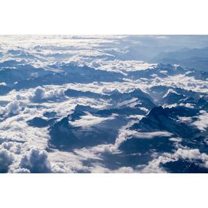 フリー写真, 風景, 自然, 航空写真, 雲, 雲海, 山