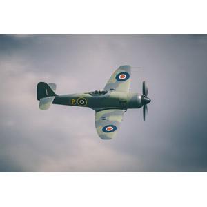 フリー写真, 乗り物, 航空機, 飛行機, 兵器, 戦闘機, レシプロ機, イギリス軍, ホーカー・シー・フュリー