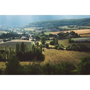フリー写真, 風景, 牧草地, 干し草ロール, 田舎, フランスの風景