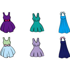 フリーイラスト, ベクター画像, AI, 衣服(衣類), レディースファッション, ワンピース, ドレス