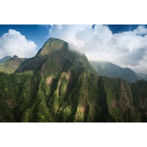 フリー写真, 風景, 自然, 山, 雲, アメリカの風景, ハワイ州