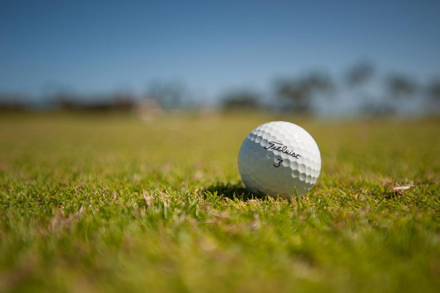 フリー写真 芝生の上のゴルフボール
