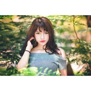 フリー写真, 人物, 女性, アジア人女性, 女性(00269), 中国人, 髪の毛を触る