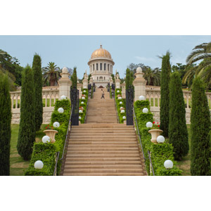 フリー写真, 風景, 建造物, 建築物, 廟, バーブ廟, ハイファと西ガリラヤのバハーイー教聖地群, 世界遺産, イスラエルの風景, 階段