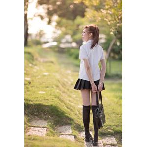フリー写真, 人物, 少女, アジアの少女, 中国人, 学生服, 学生(生徒), 高校生, 通学鞄, 横顔, 後ろ姿