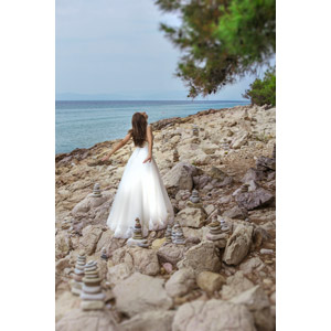 フリー写真, 人物, 女性, 外国人女性, 花婿(新郎), ウェディングドレス