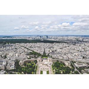 フリー写真, 風景, 建造物, 建築物, 都市, 街並み(町並み), シャイヨ宮, フランスの風景, パリ, 雲