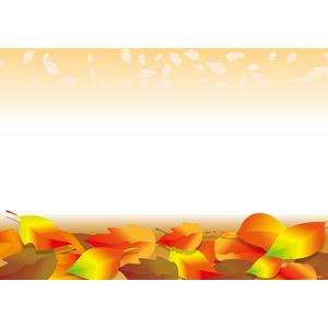 フリーイラスト, ベクター画像, AI, 背景, 植物, 葉っぱ, 落ち葉, 紅葉(黄葉), 秋