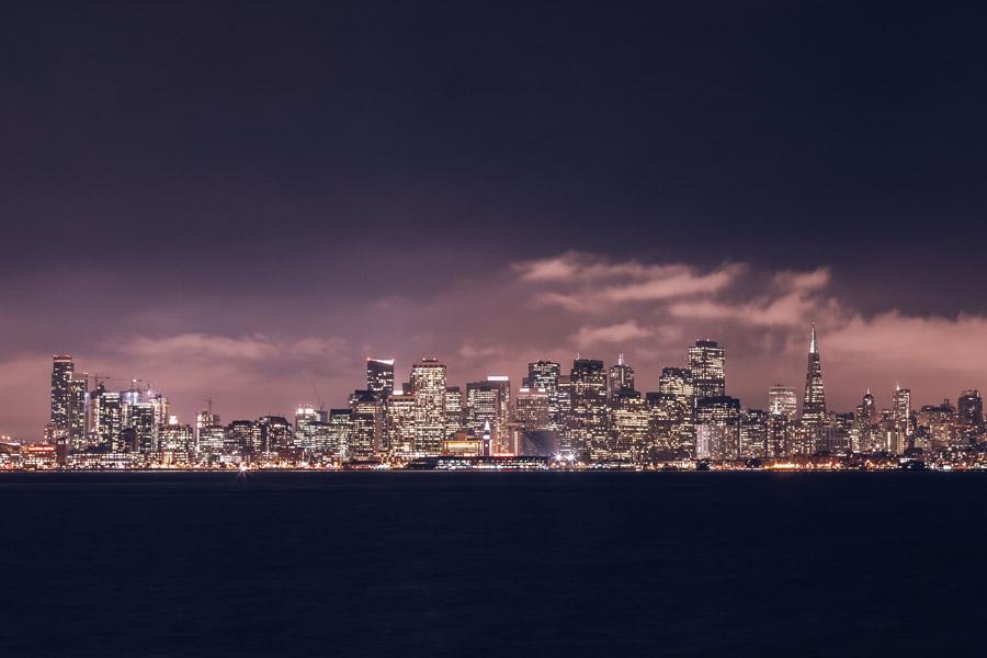 フリー写真 サンフランシスコの夜景