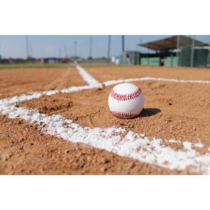 フリー写真, スポーツ, 球技, 野球(ベースボール), 野球ボール, 野球グラウンド