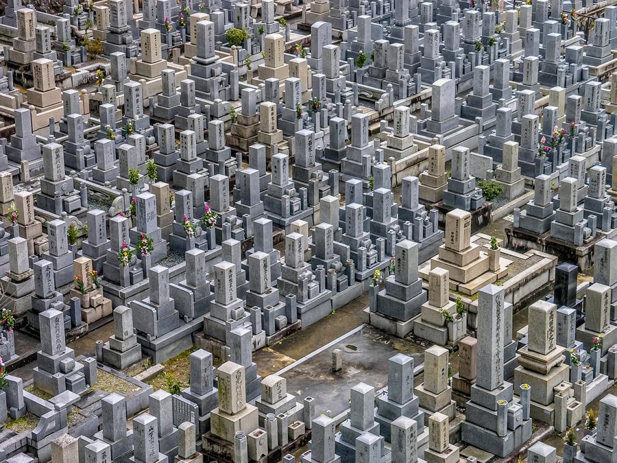 フリー写真 日本の墓地の風景