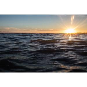 フリー写真, 風景, 自然, 海, 朝, 朝日, 日の出, フランスの風景