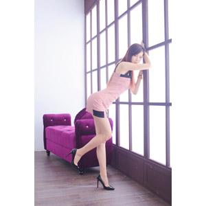 フリー写真, 人物, 女性, アジア人女性, DUDU(00216), ドレス, 部屋