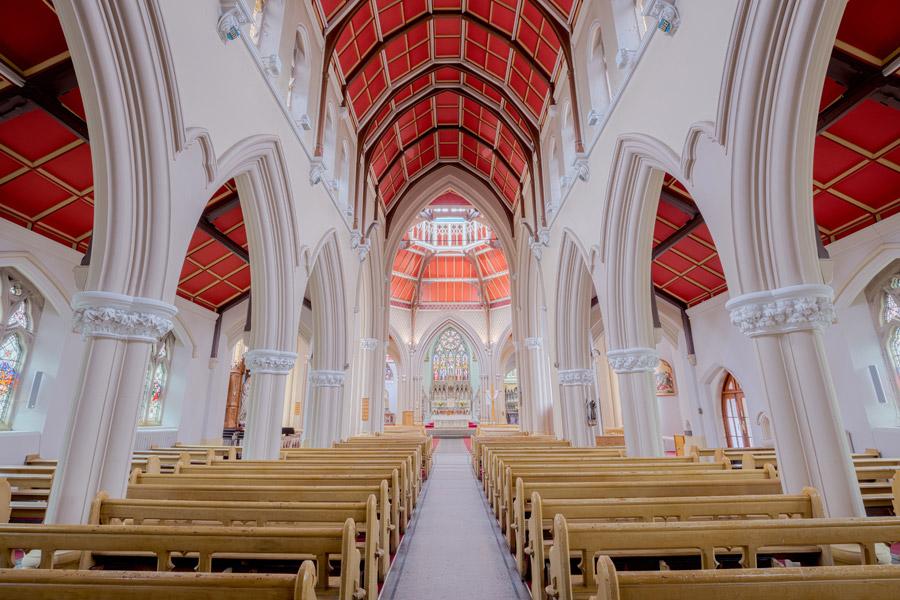 フリー写真 ブラックプールの聖心教会の内部風景