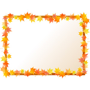 フリーイラスト, ベクター画像, AI, 背景, フレーム, 囲みフレーム, 植物, 葉っぱ, もみじ(カエデ), 紅葉(黄葉), 秋, 木材