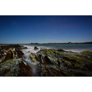 フリー写真, 風景, 自然, 海, 海岸, 夜, 夜空, 星(スター), オーストラリアの風景