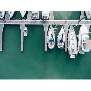 フリー写真, 風景, 建造物, ヨットハーバー(マリーナ), 海, 乗り物, 船, ヨット, フランスの風景