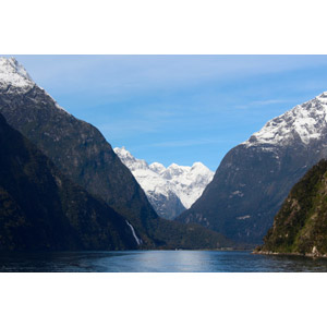 フリー写真, 風景, 自然, フィヨルド, ミルフォード・サウンド, 世界遺産, ニュージーランドの風景, 山, 岩山