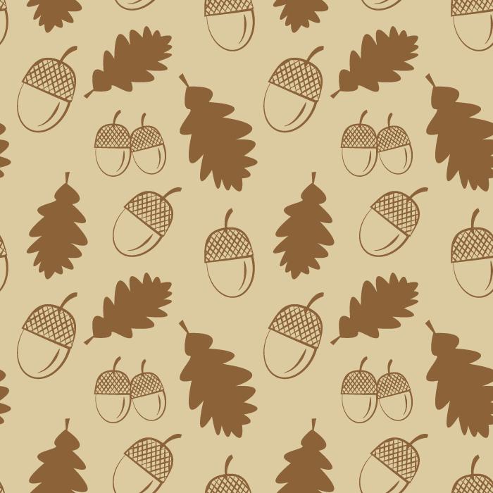 フリーイラスト どんぐりと落ち葉の背景