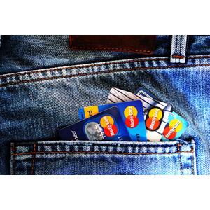 フリー写真, クレジットカード, 電子決済, ジーンズ(ジーパン)