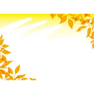 フリーイラスト, ベクター画像, EPS, 背景, 秋, 植物, 葉っぱ, 紅葉(黄葉)