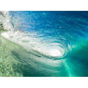 フリー写真, 風景, 自然, 海, 波, 波のトンネル(チューブ)
