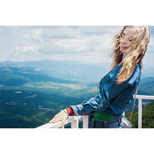 フリー写真, 人物, 女性, 外国人女性, ロシア人, 女性(00276), 金髪(ブロンド), 目を閉じる